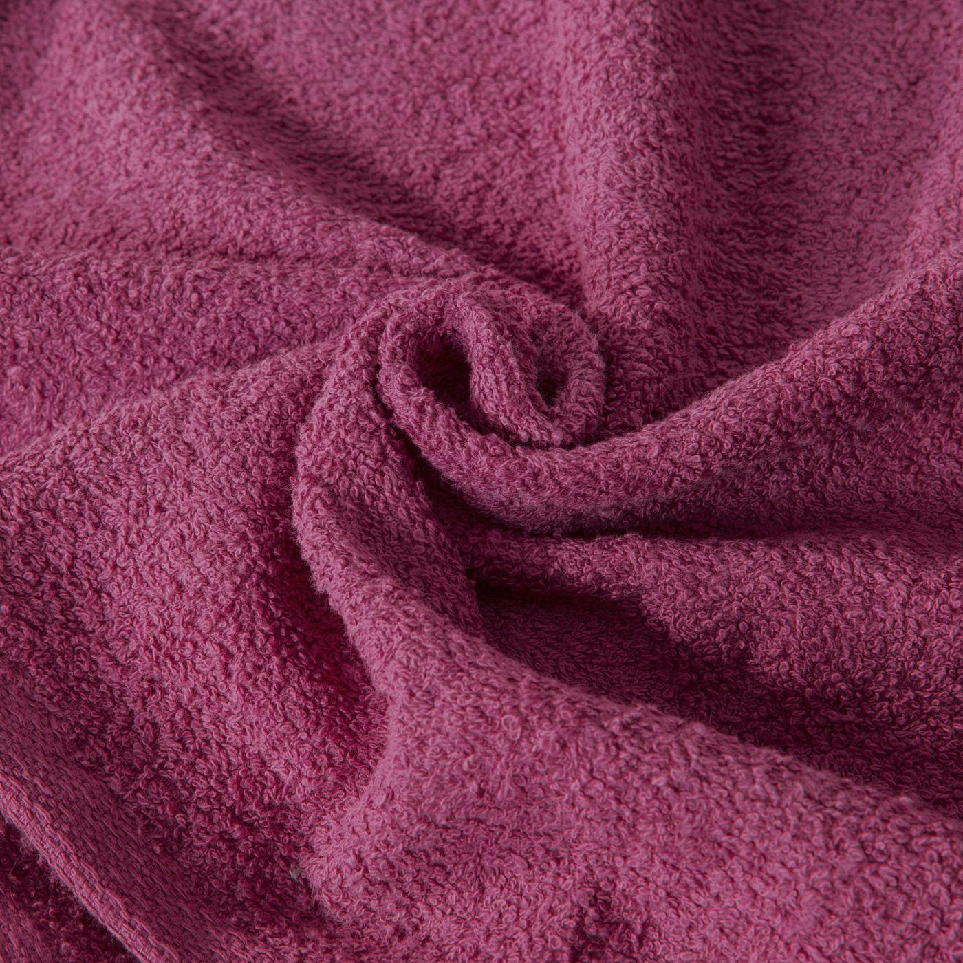 Ręcznik z bawełny gładki liliowy 70x140cm