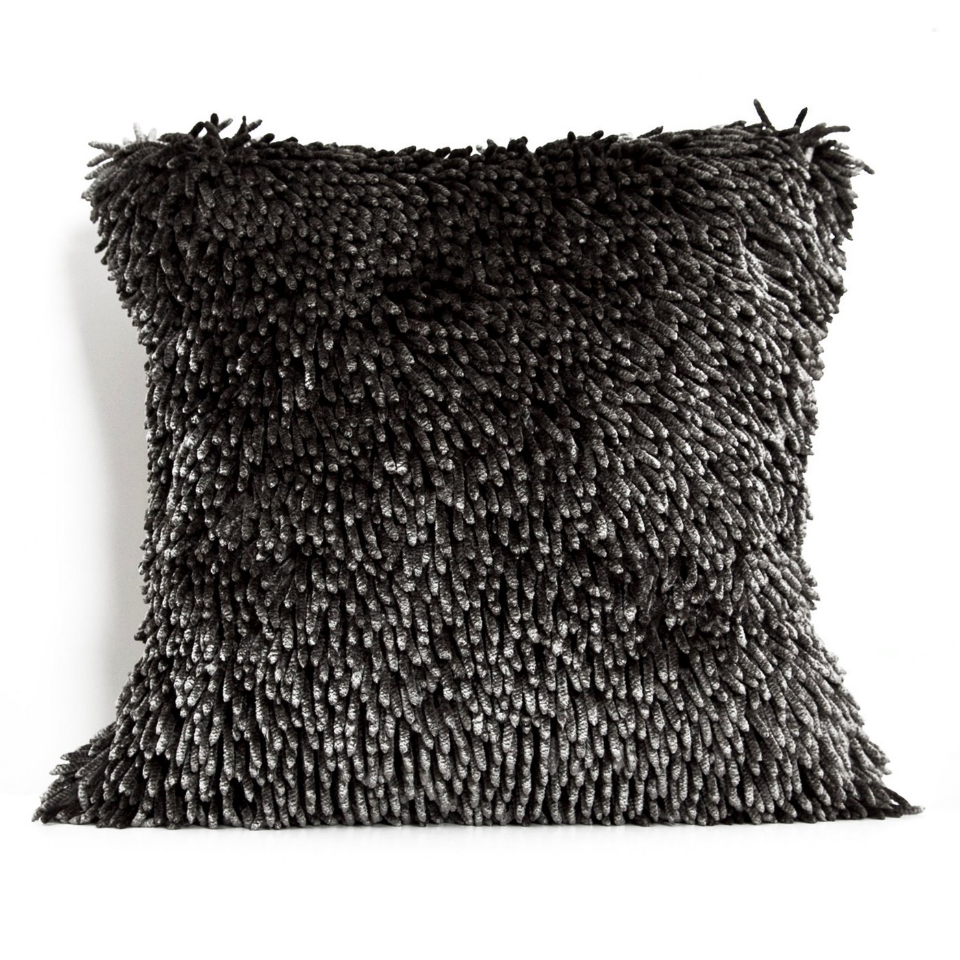 Poszewka na poduszkę włosie shaggy stalowoszara 40 x 40 cm