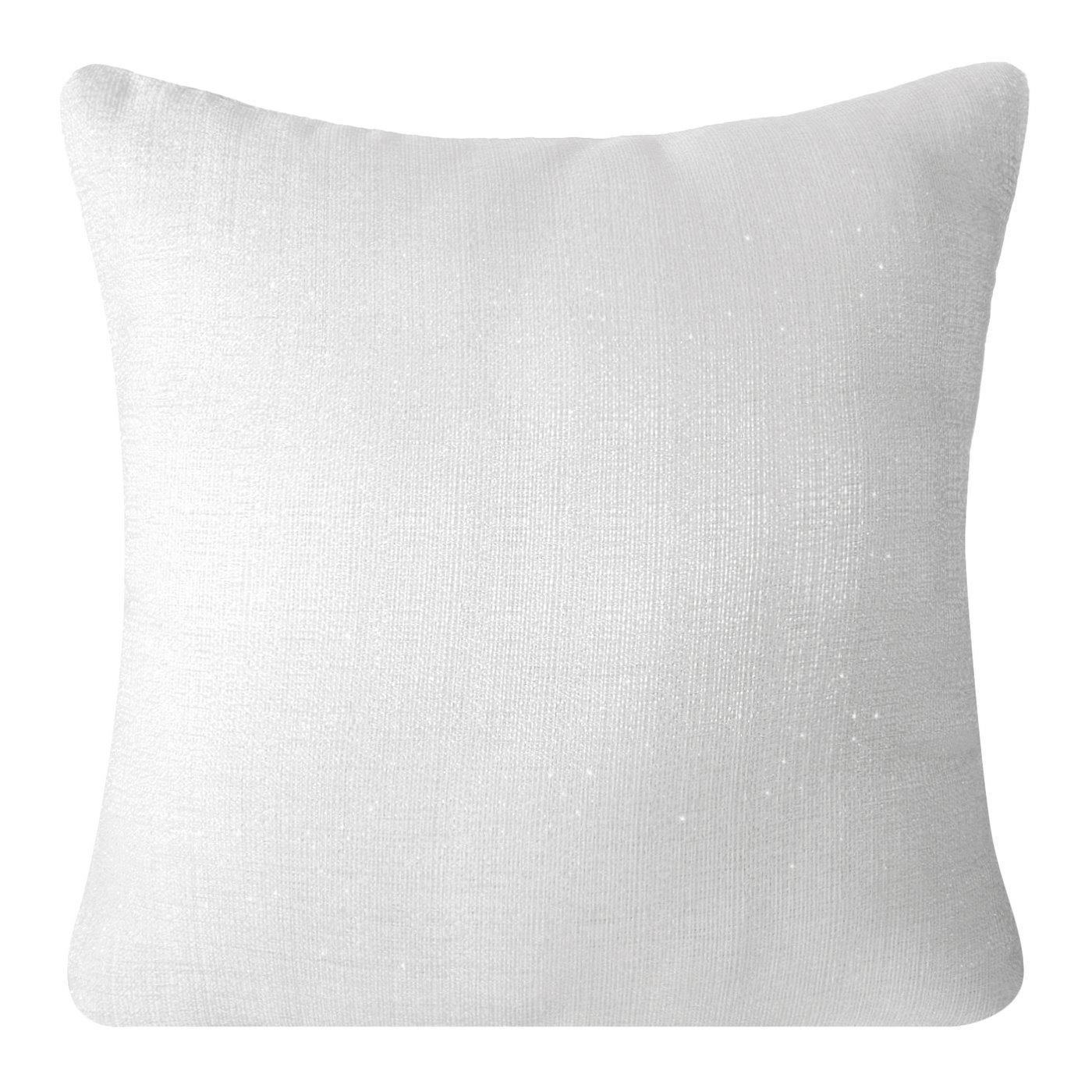 Poszewka na poduszkę gładka biała 40 x 40 cm