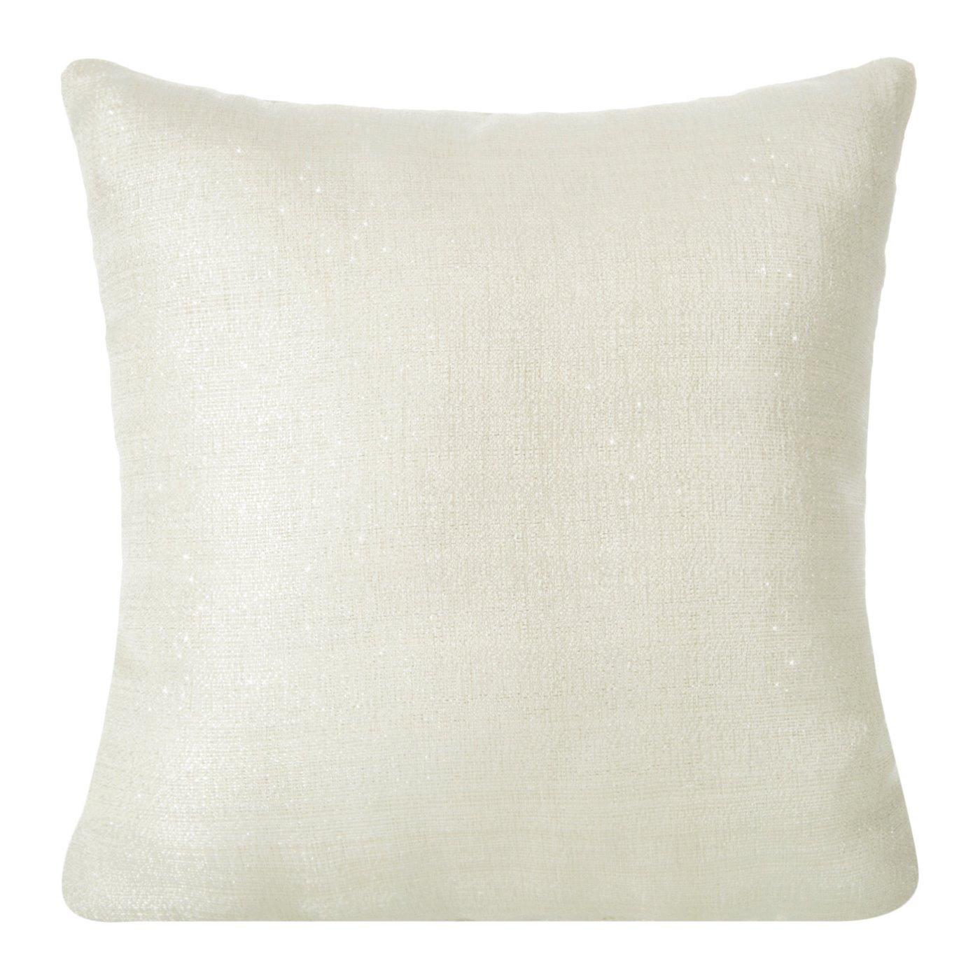 Poszewka na poduszkę 40 x 40 cm kremowa