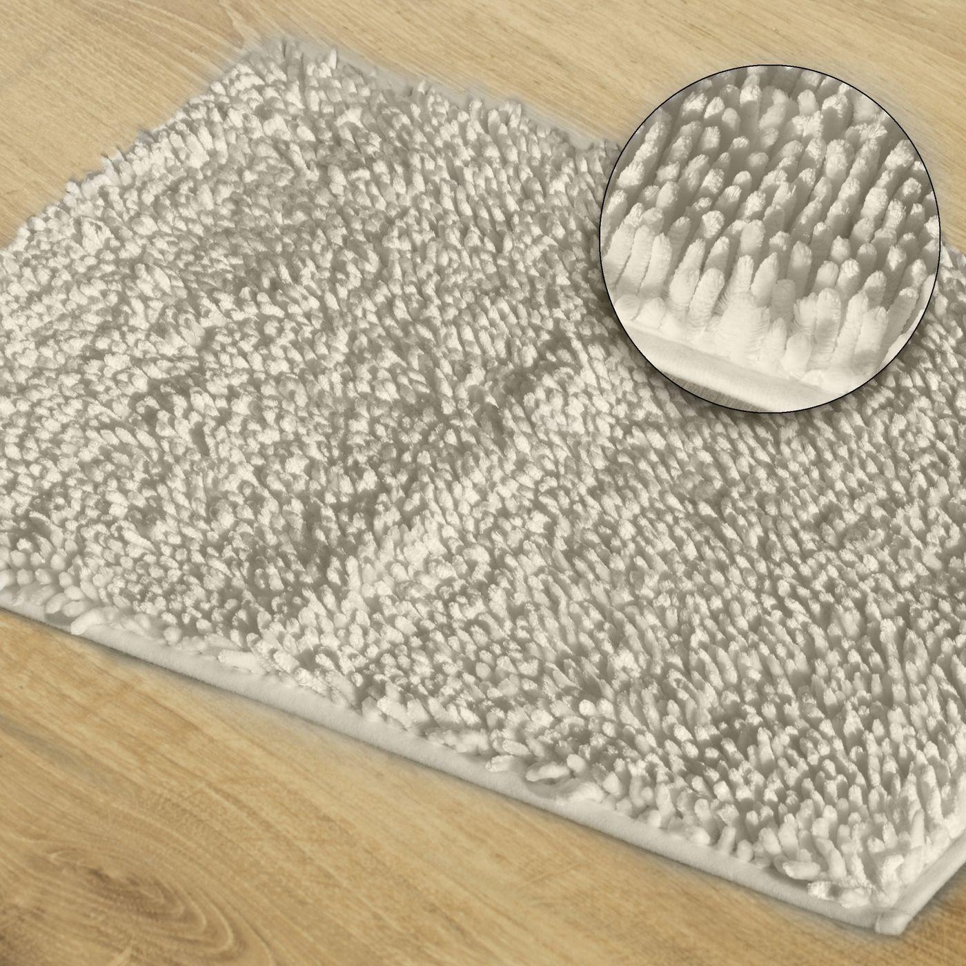 Biały dywan shaggy łazienkowy 50x70 cm