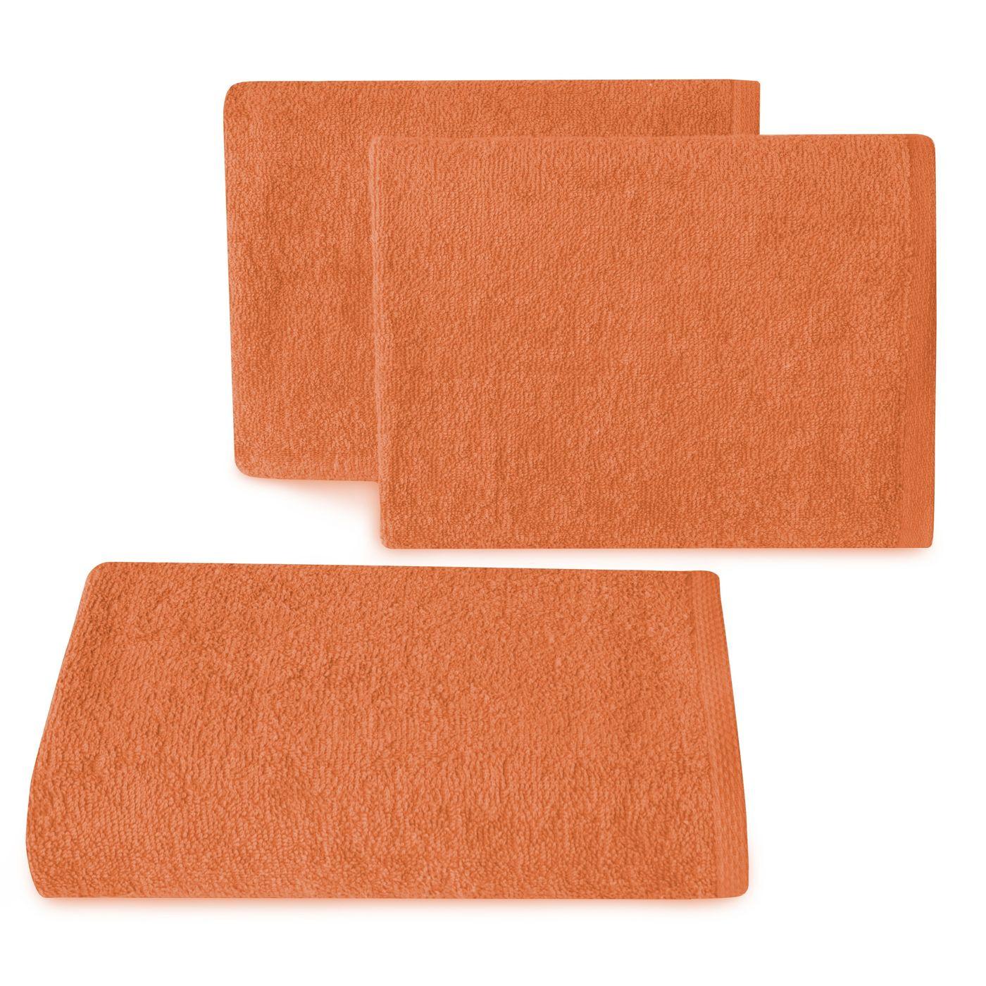 Ręcznik z bawełny gładki pomarańczowy 50x90cm