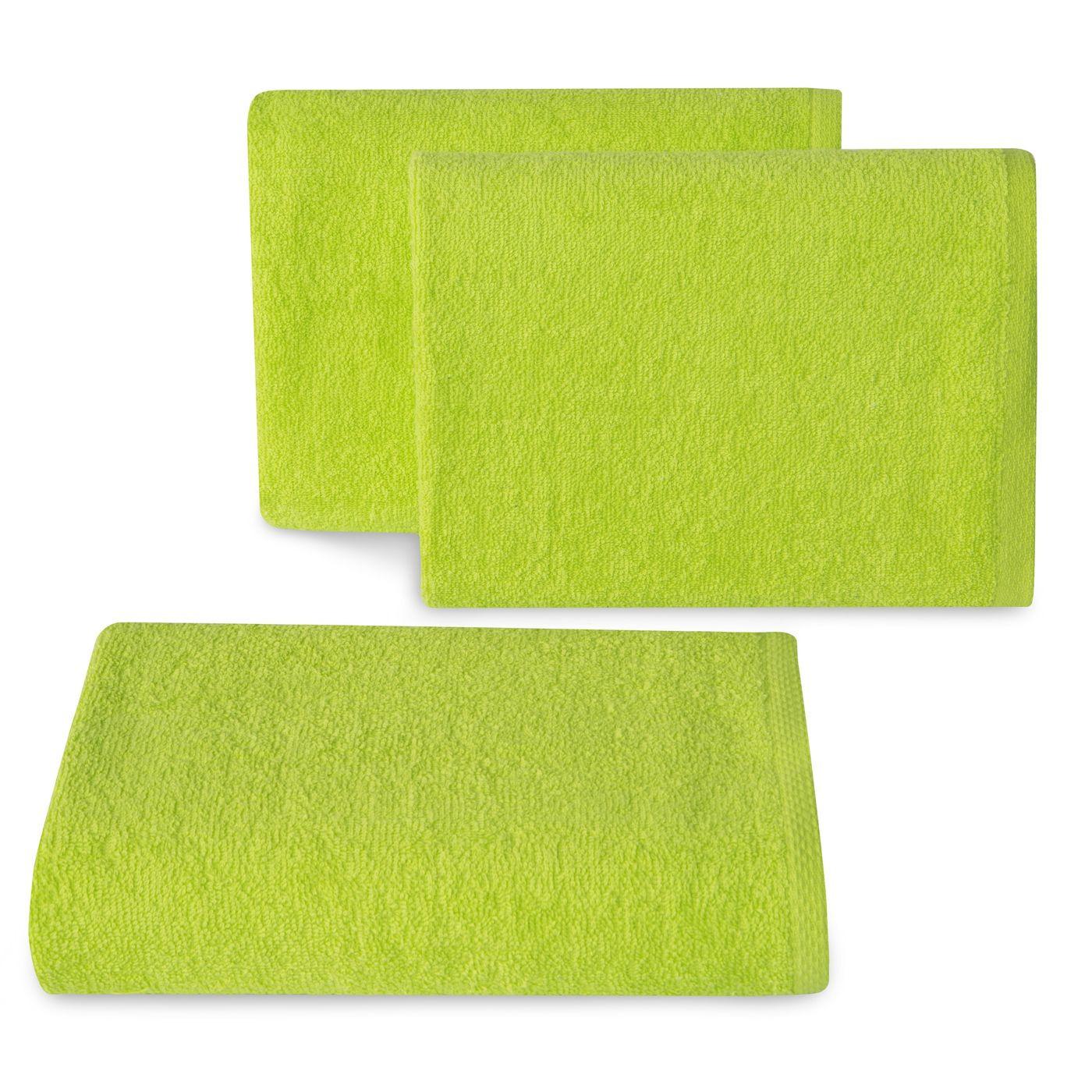 Ręcznik z bawełny gładki sałata 50x90cm