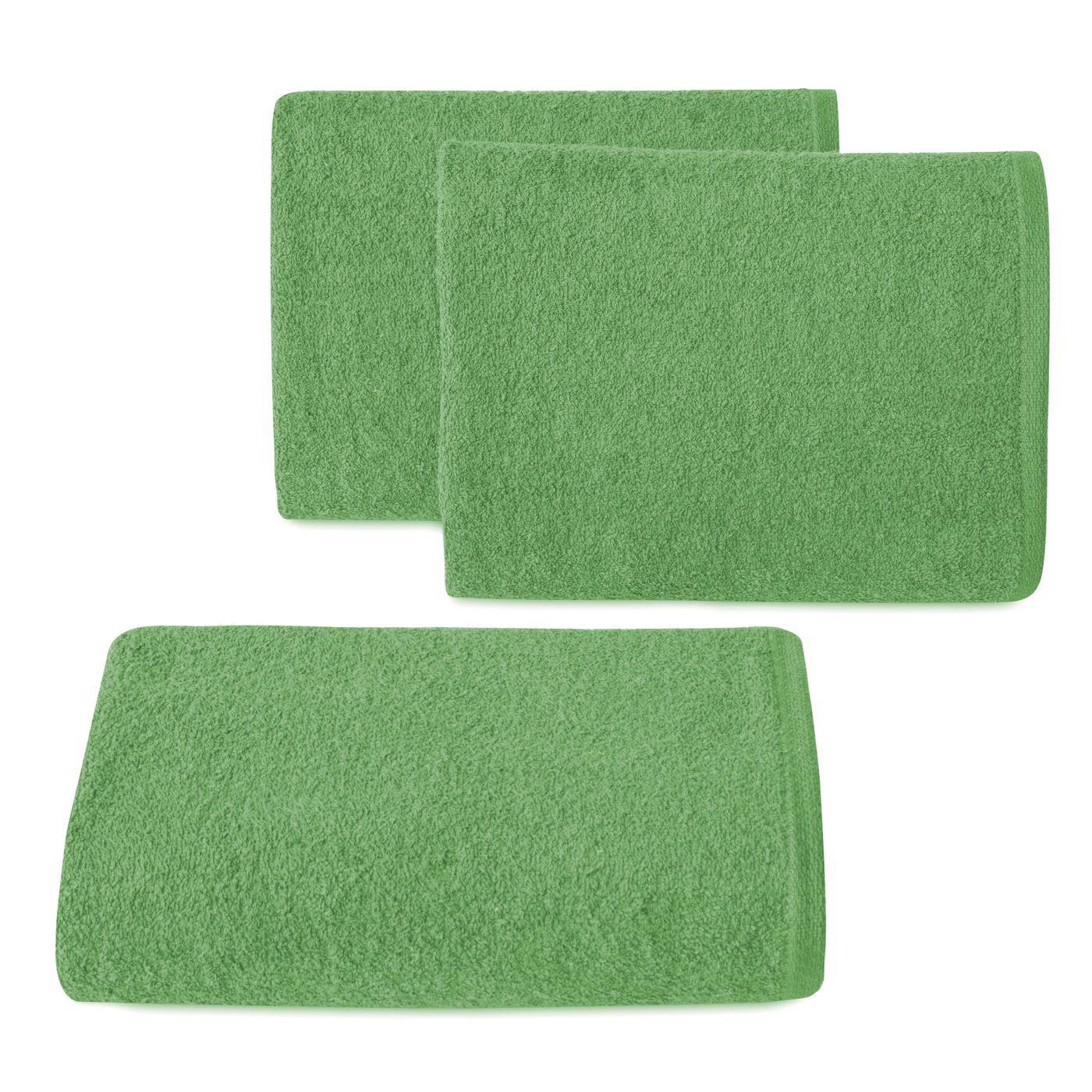 Ręcznik z bawełny gładki zielony 50x90cm