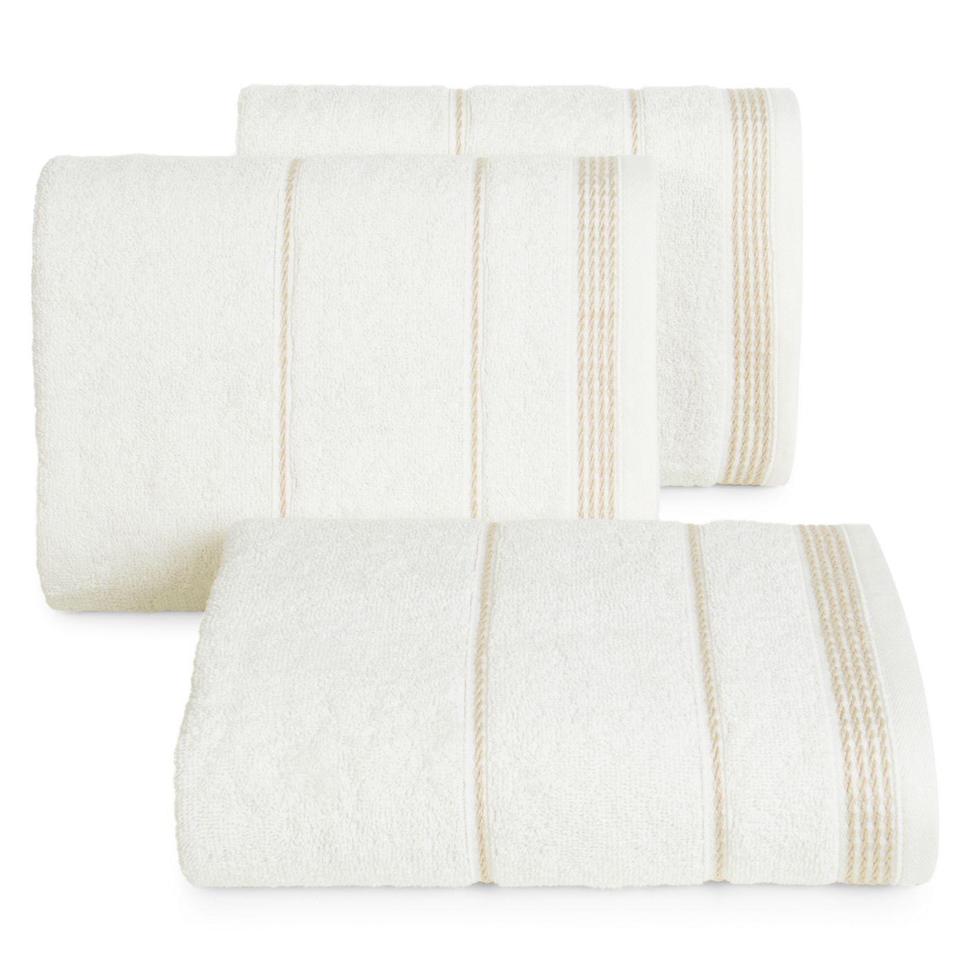Ręcznik z bawełny ze sznurkowym zdobieniem 30x50cm