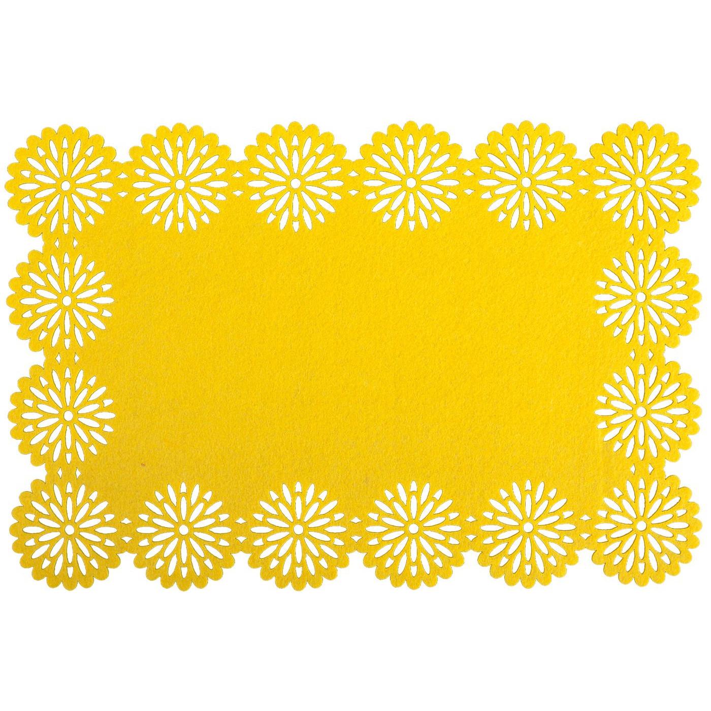 Filcowa podkładka stołowa bieżnik żółty 30x120 cm