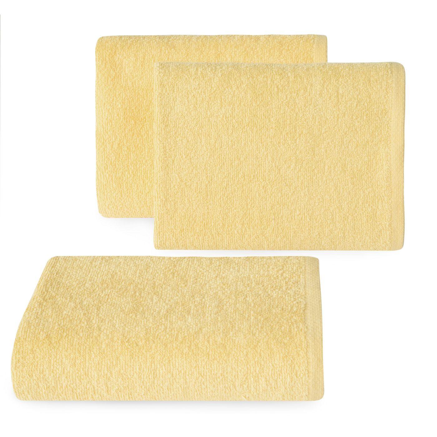 Ręcznik z bawełny gładki słoneczny 50x90cm