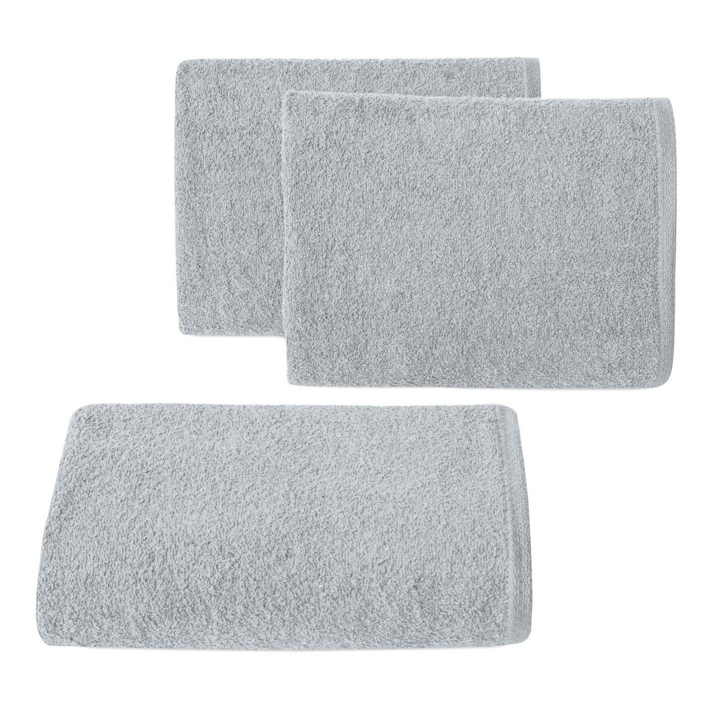 Ręcznik z bawełny gładki błękitny 50x90cm