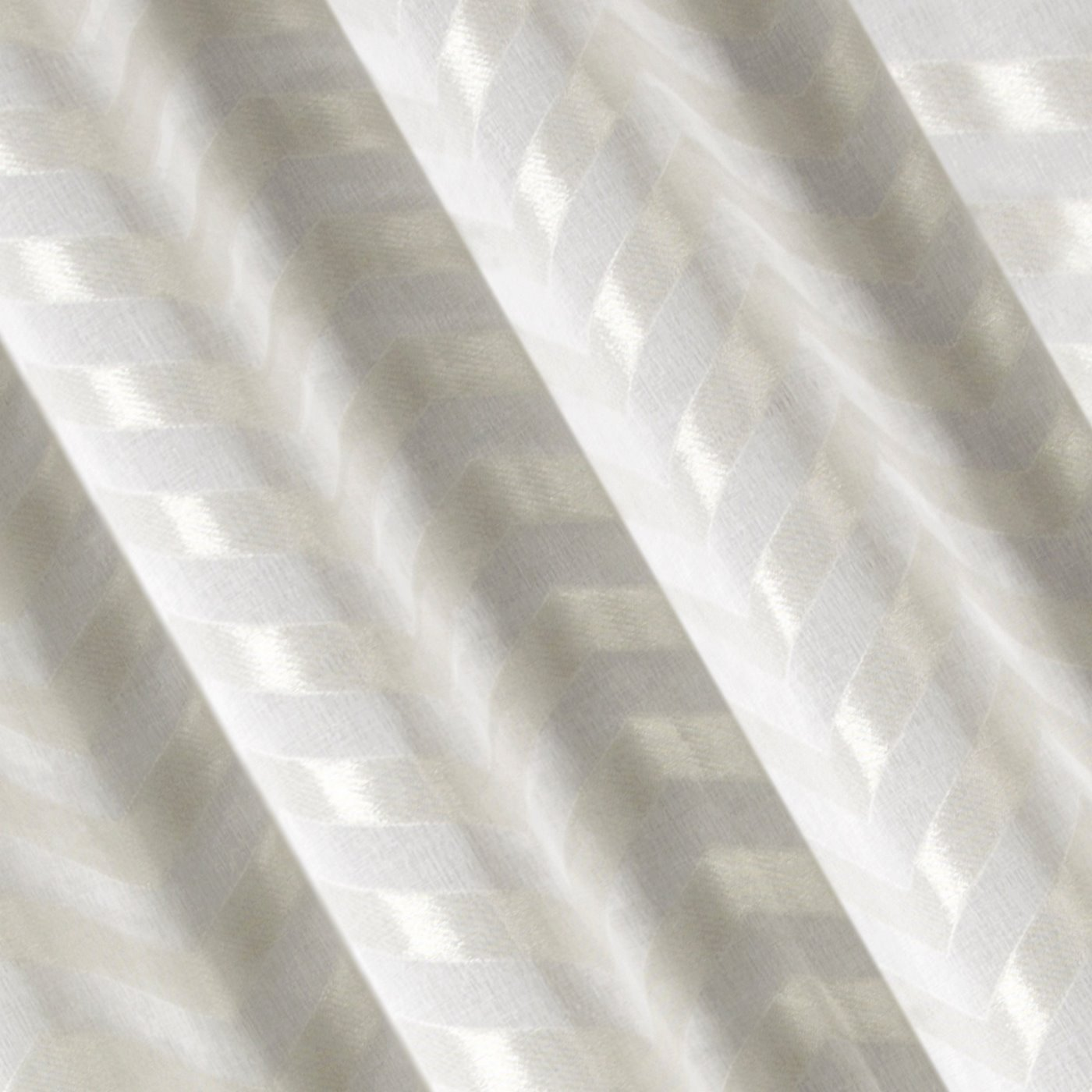 Zasłona gotowa beżowa z połyskującym zygazkiem 140x250 cm przelotki