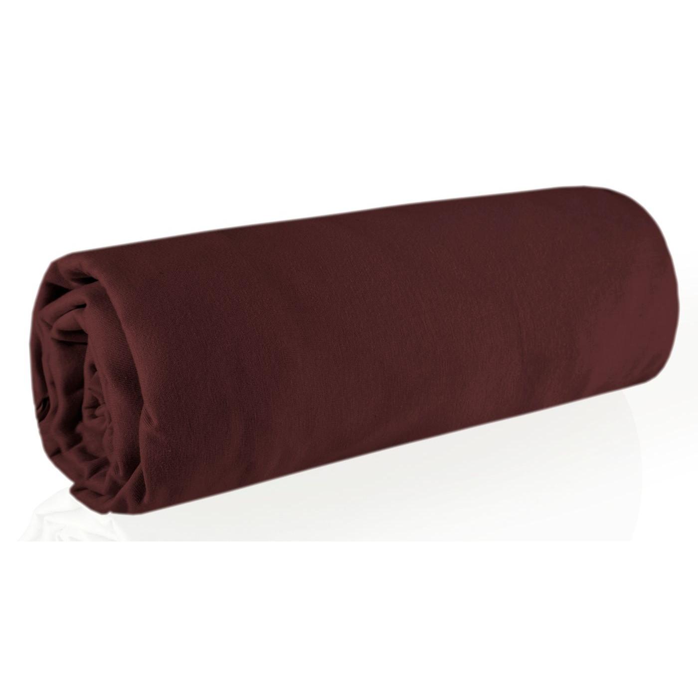 Prześcieradło bawełniane gładkie 160x200+30cm 150 kolor czekoladowy