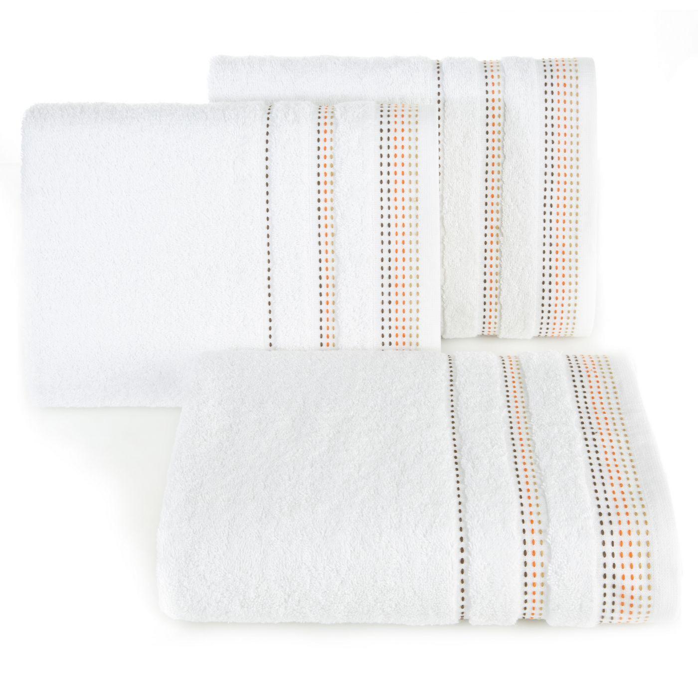 Ręcznik z bawełny z ozdobnym stebnowaniem 50x90cm