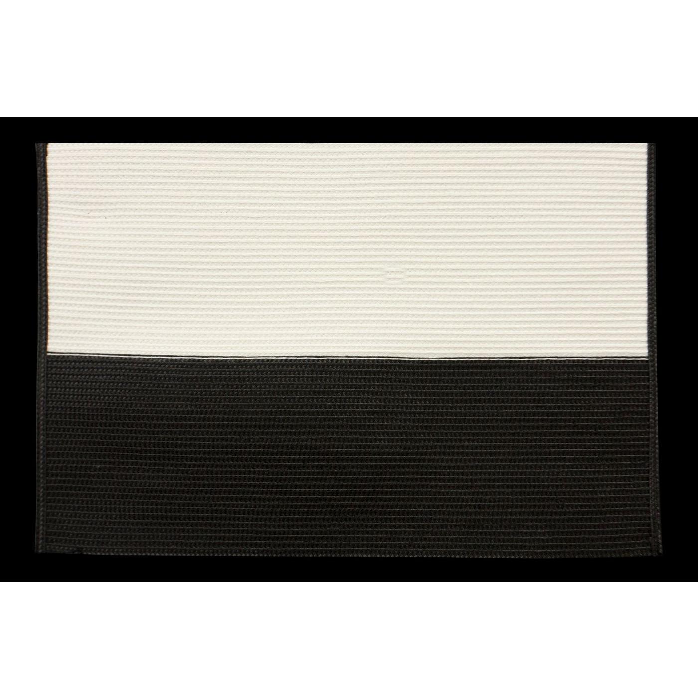 Dwukolorowa podkładka stołowa czarny i biały 30x45 cm