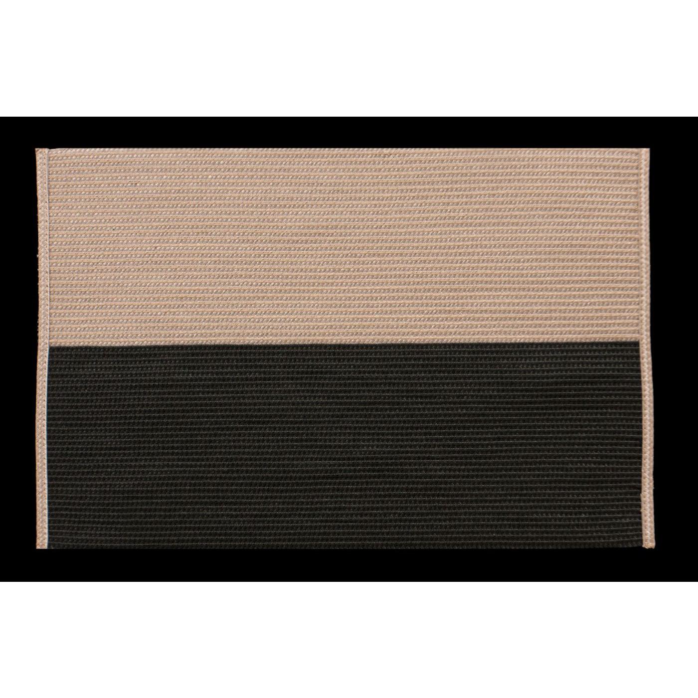 Dwukolorowa podkładka stołowa czarny i beż 30x45 cm
