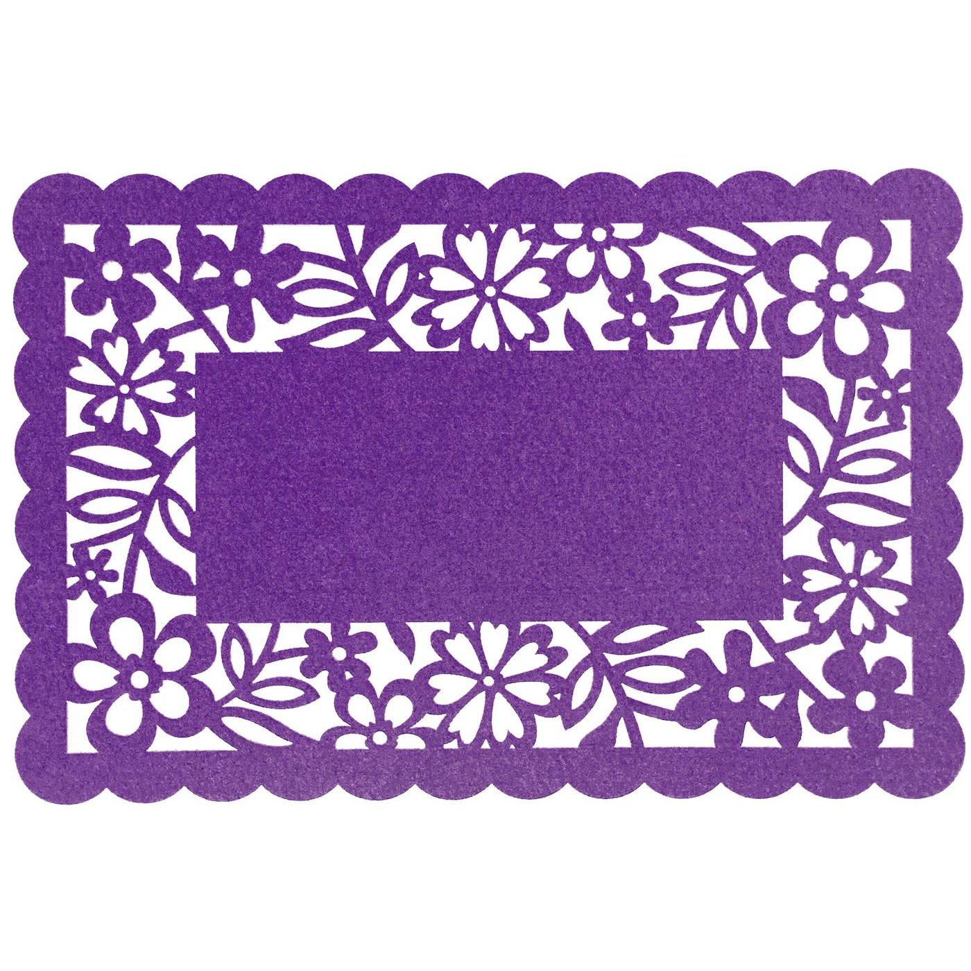 Podkładka stołowa ażurowa z filcu 30x120cm fiolet