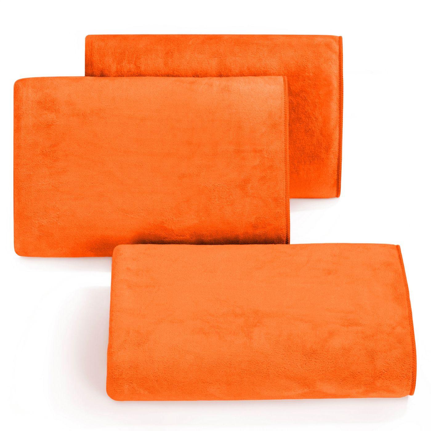 Ręcznik z mikrofibry szybkoschnący jasnopomarańczowy 30x30cm