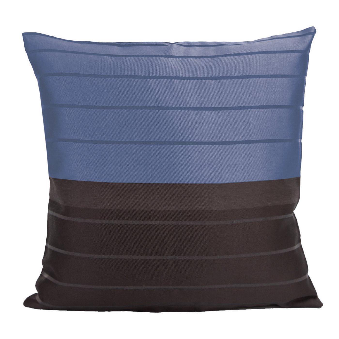 Poszewka na poduszkę 40 x 40 cm czarno granatowa