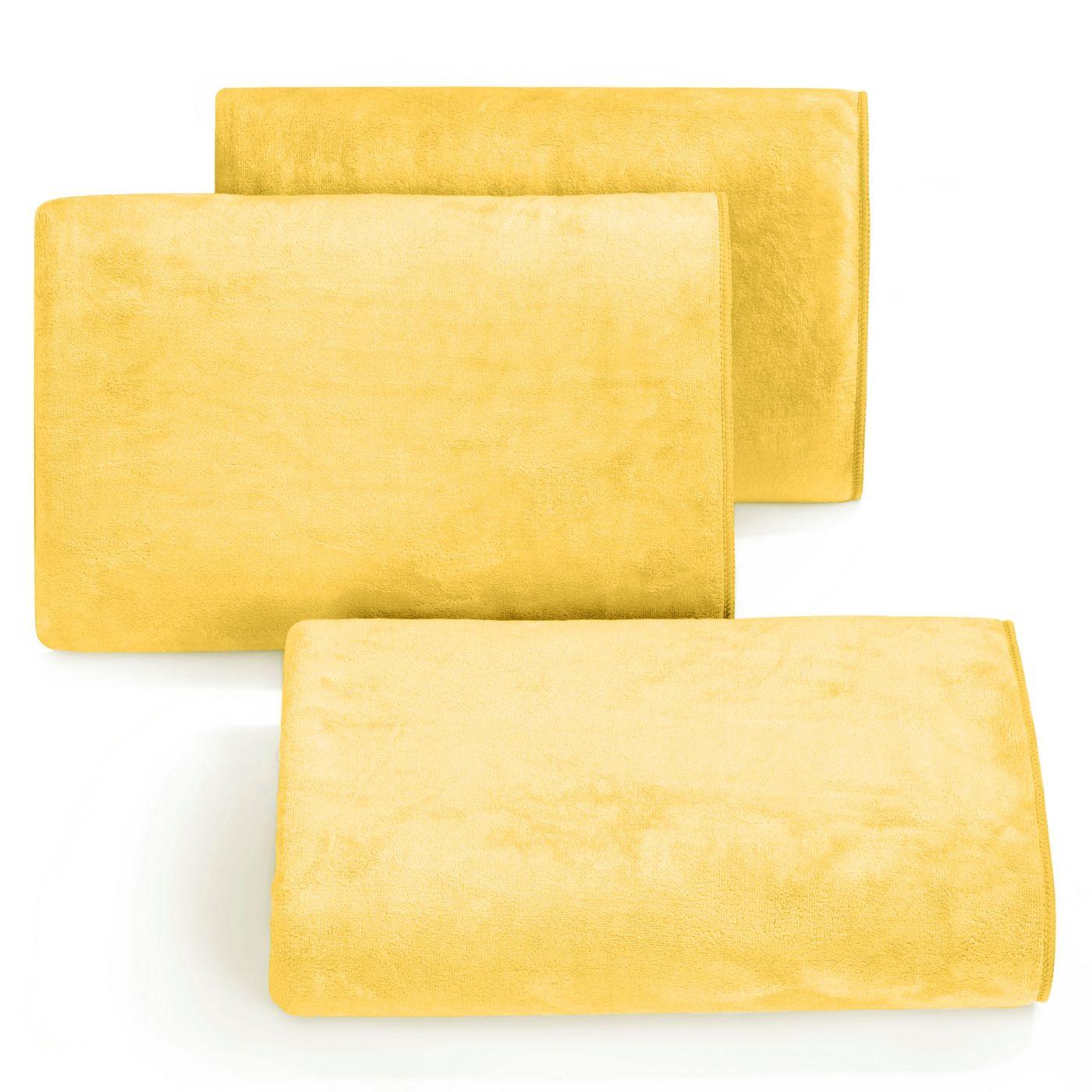 Ręcznik z mikrofibry szybkoschnący żółty 30x30cm