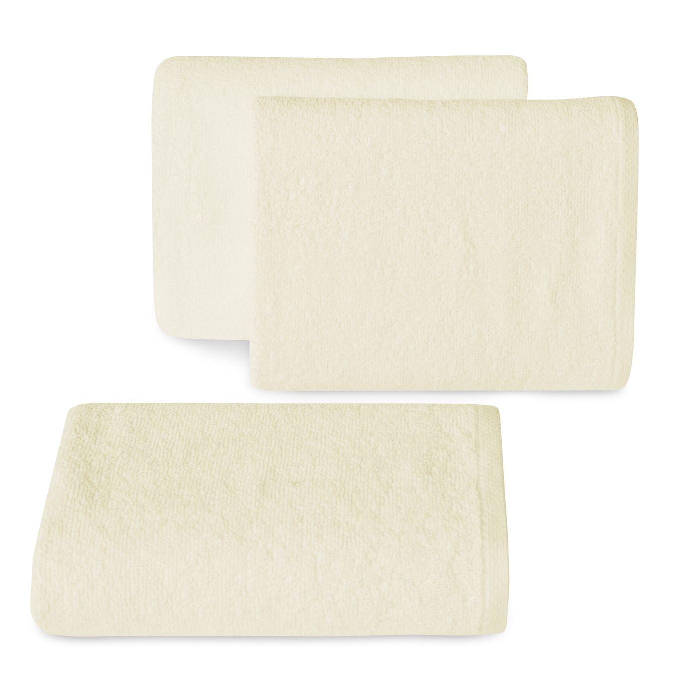 Ręcznik z bawełny gładki kremowy 30x50cm