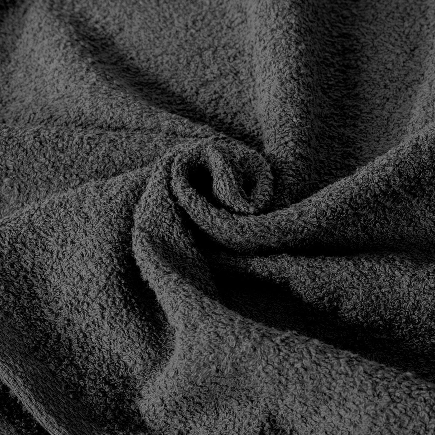 Ręcznik z bawełny gładki czarny 70x140cm