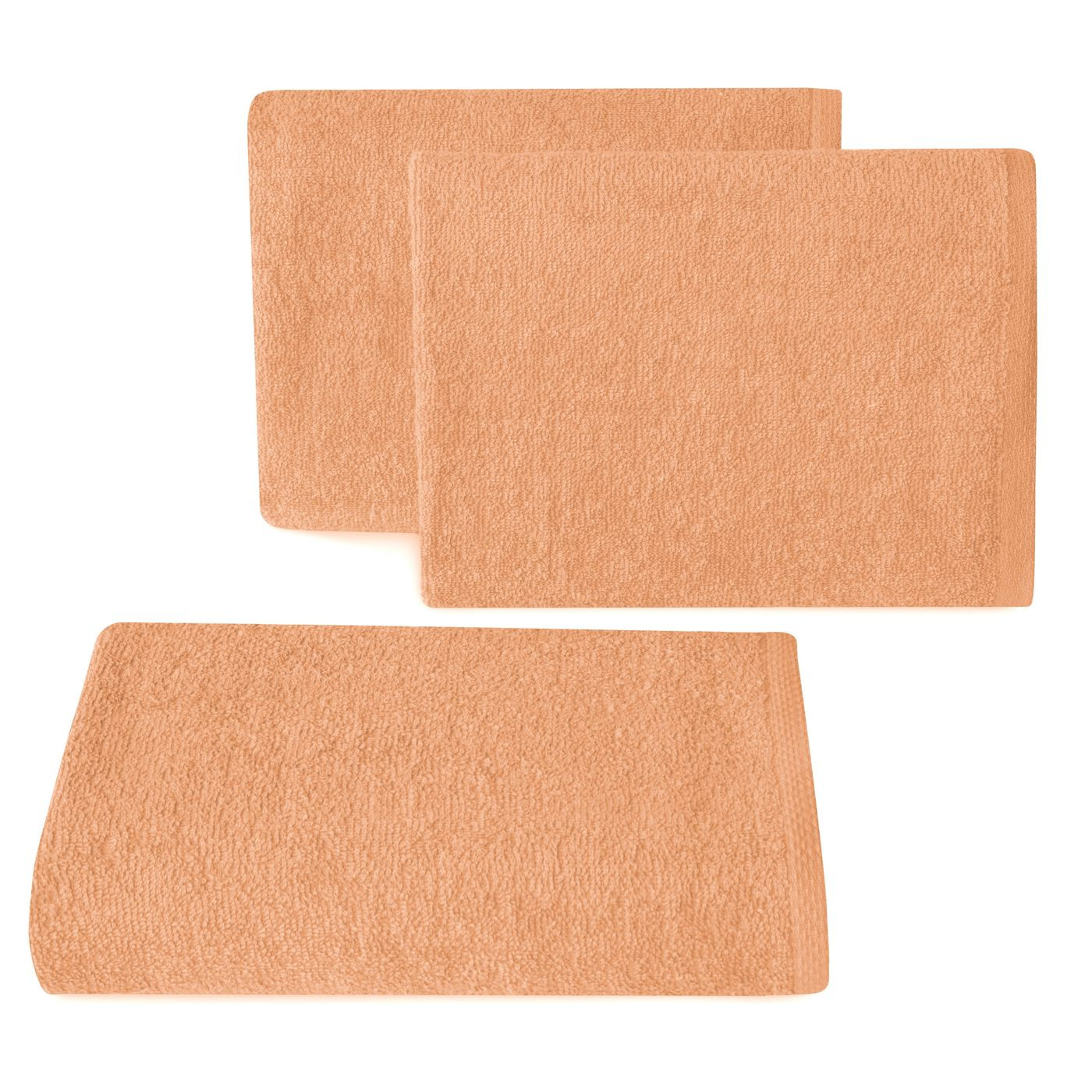 Ręcznik z bawełny gładki morelowy 50x90cm