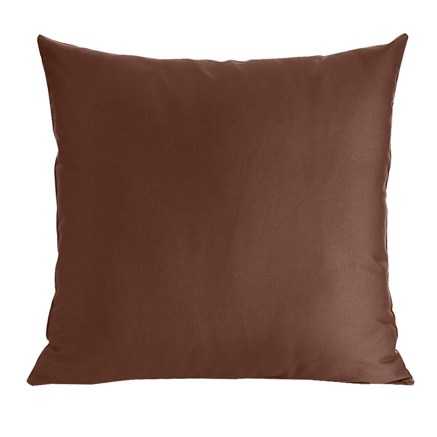 Poszewka na poduszkę brązowa gładka 40 x 40 cm