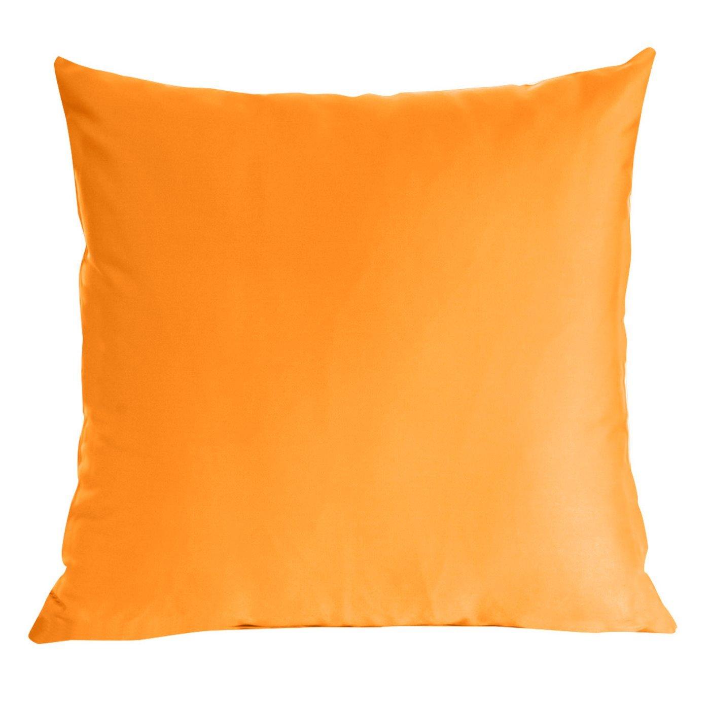 Poszewka na poduszkę pomarańczowa gładka 40 x 40 cm