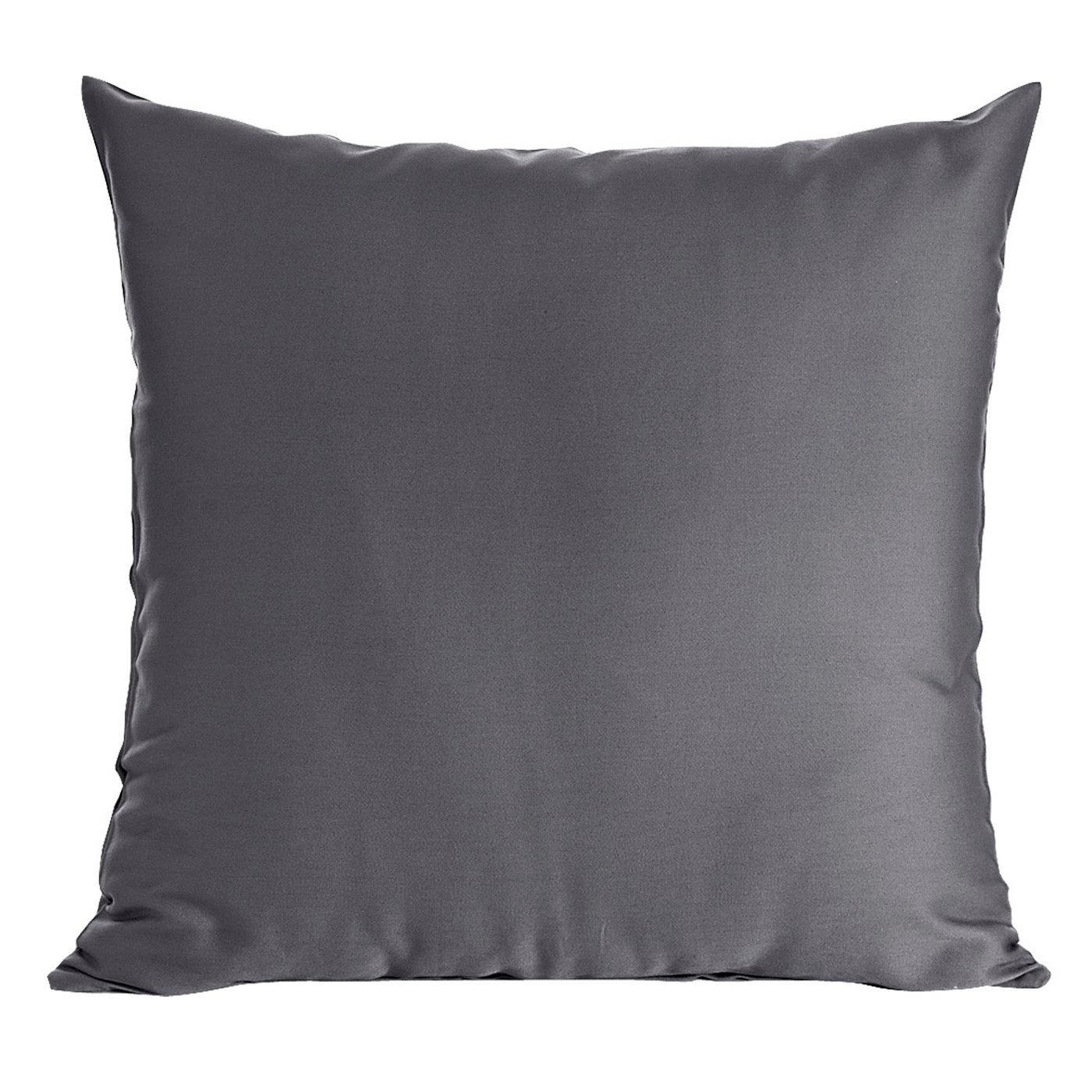 Poszewka na poduszkę stalowa gładka 40 x 40 cm