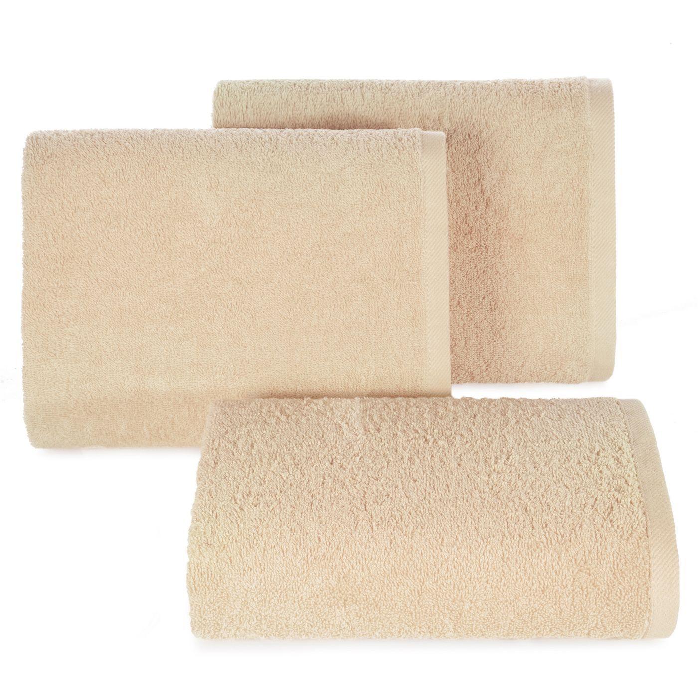 Ręcznik bawełniany gładki beżowy 50x90 cm