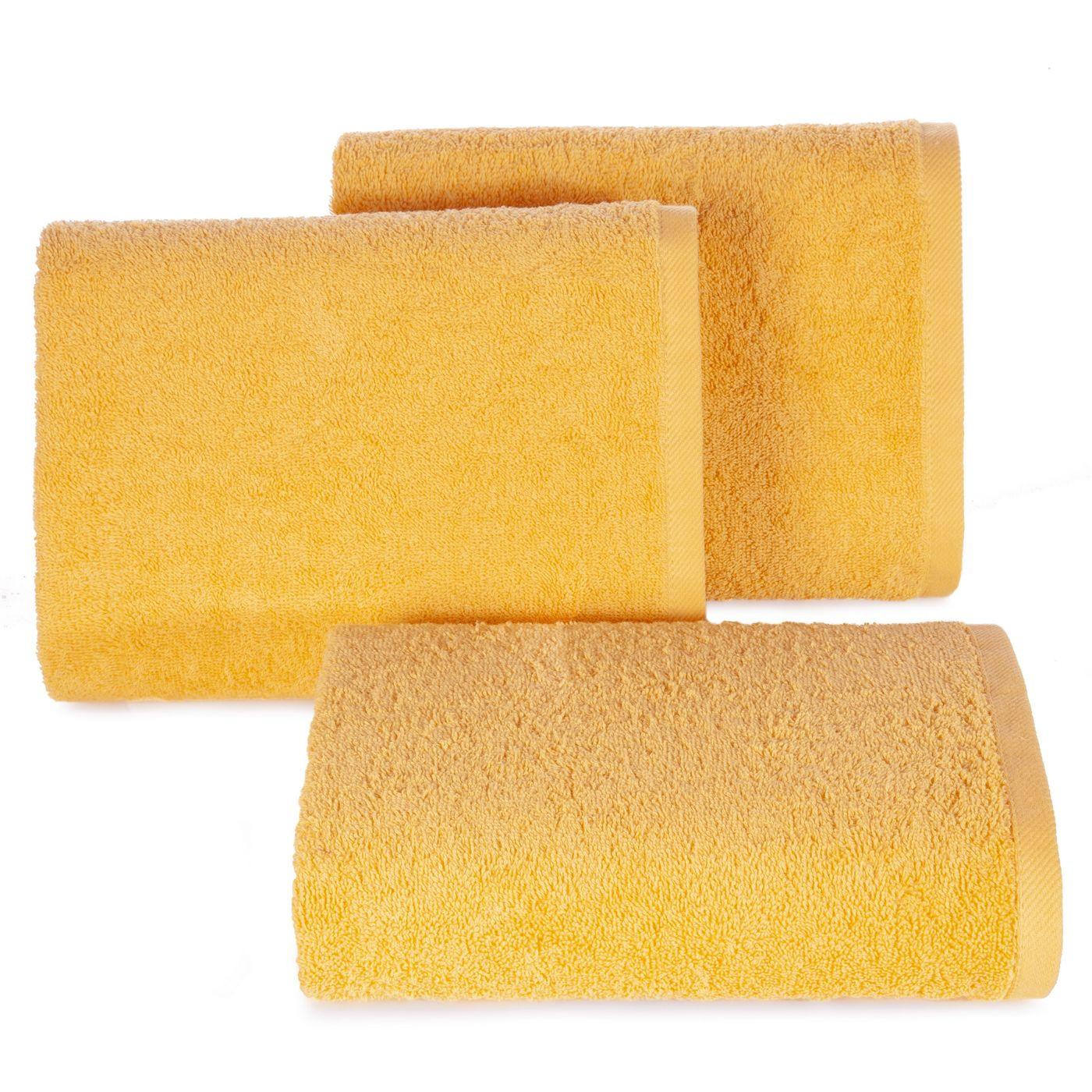 Ręcznik bawełniany gładki żółty 50x90cm