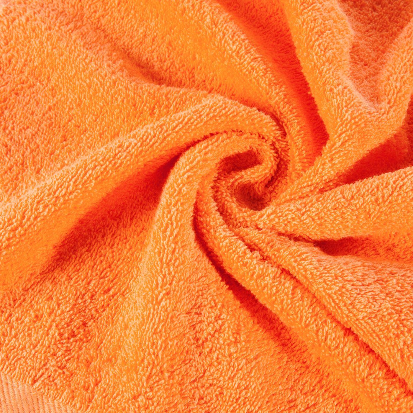 Ręcznik bawełniany gładki pomarańczowy 50x90 cm