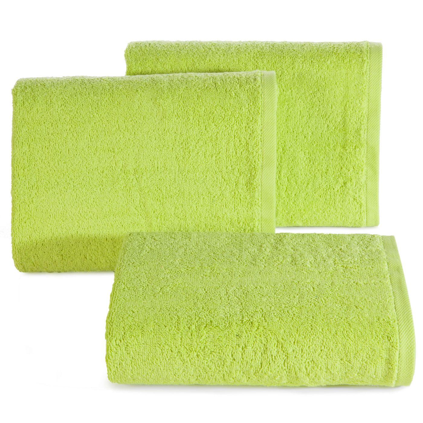 Ręcznik gładki w kolorze jasnozielonym 70x140cm