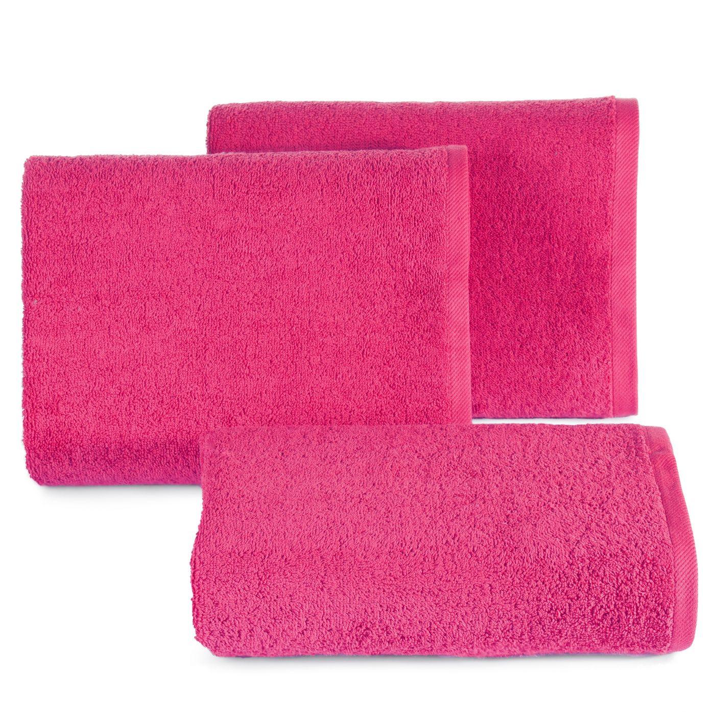Ręcznik bawełniany gładki różowy 50x90 cm