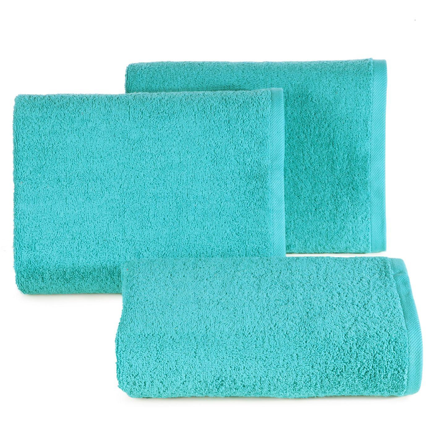 Ręcznik bawełniany gładki turkusowy 50x90 cm