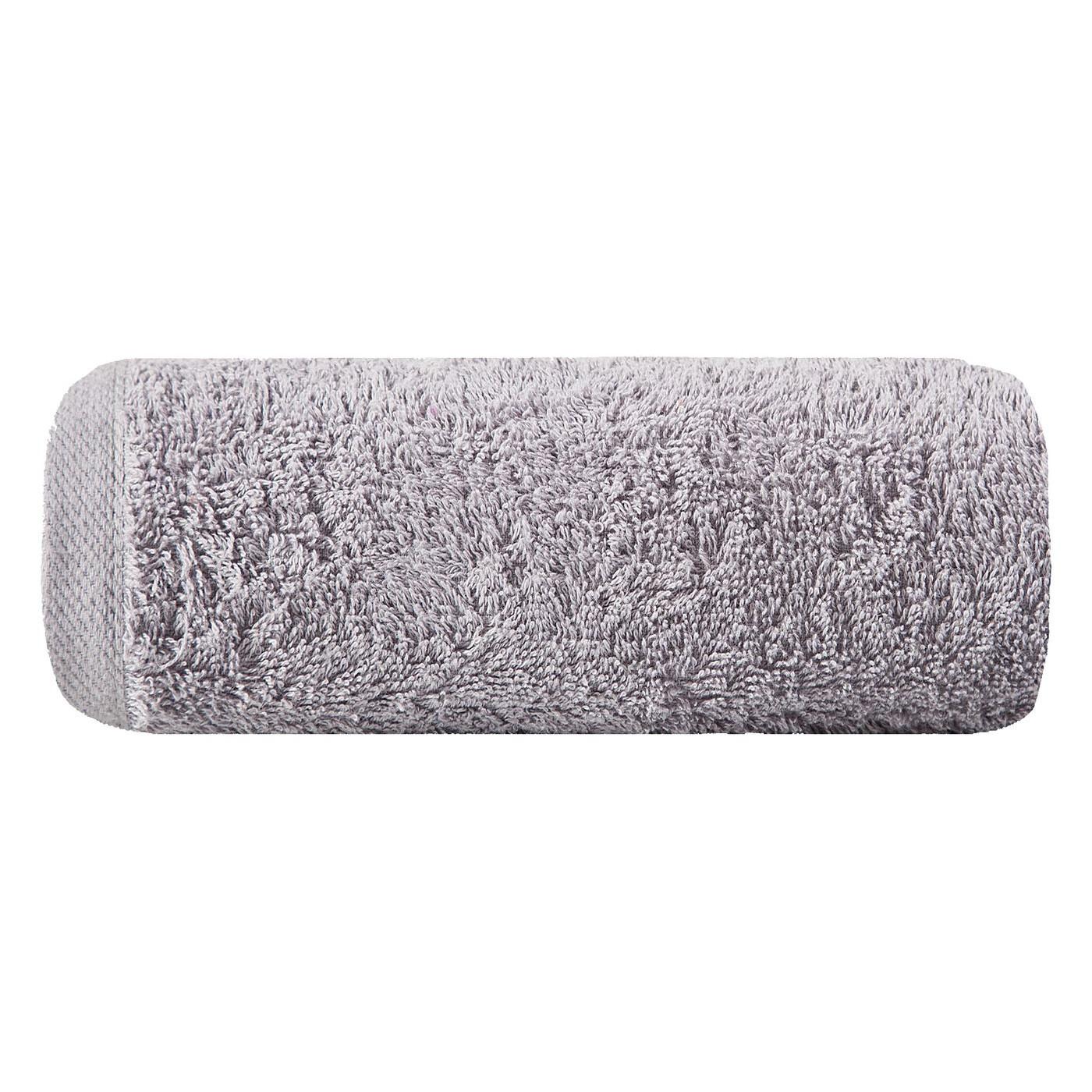 Gładki ręcznik kąpielowy srebrny 70x140 cm