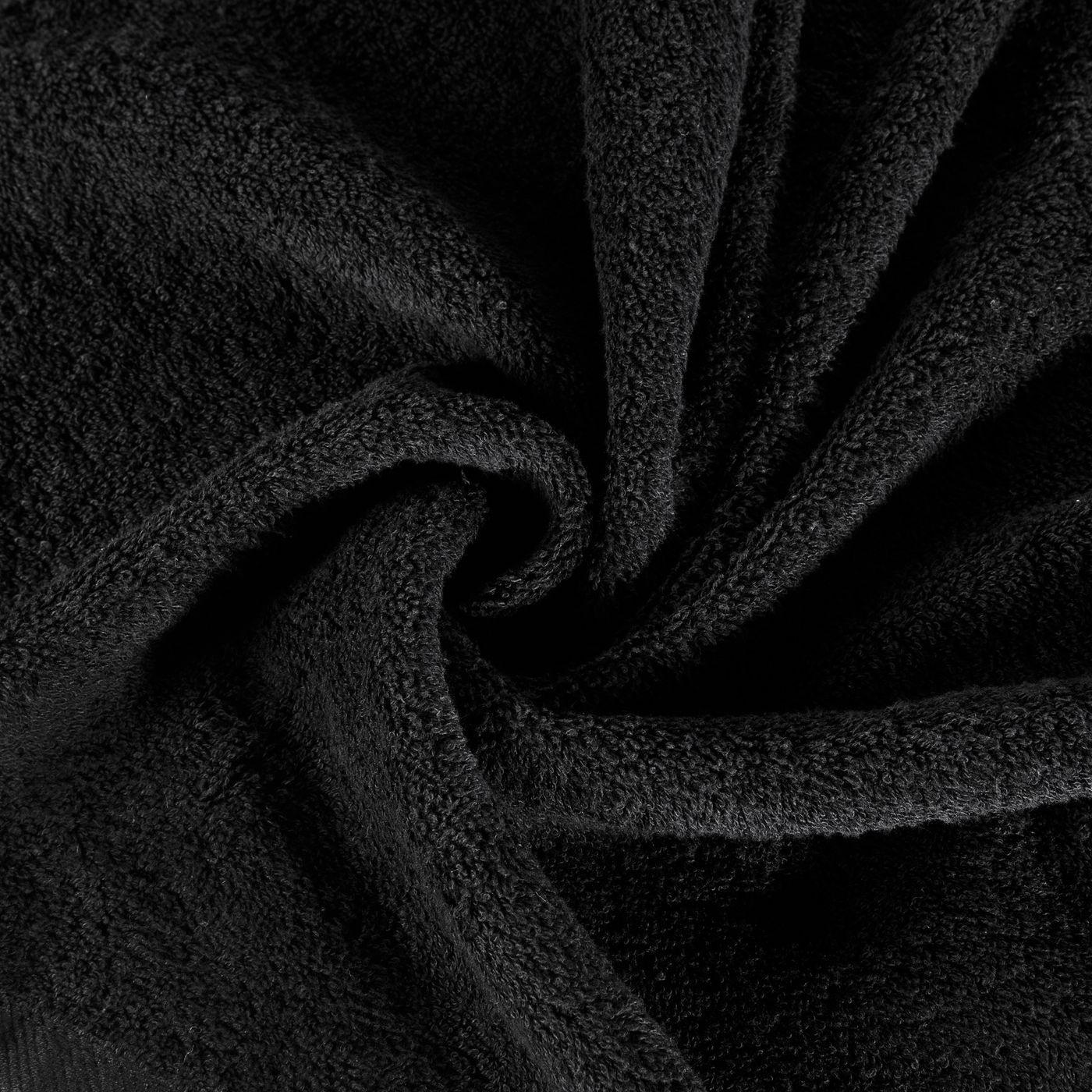 Ręcznik bawełniany gładki czarny 50x90 cm