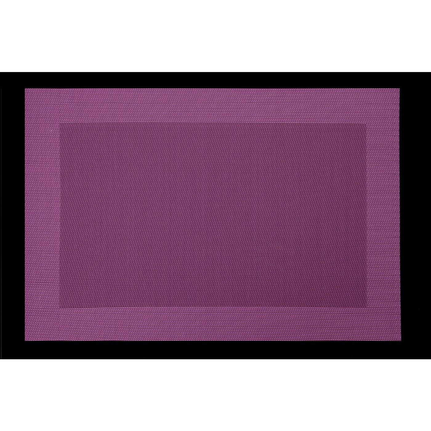 Fioletowa mata stołowa struktura tkaniny 30x45 cm