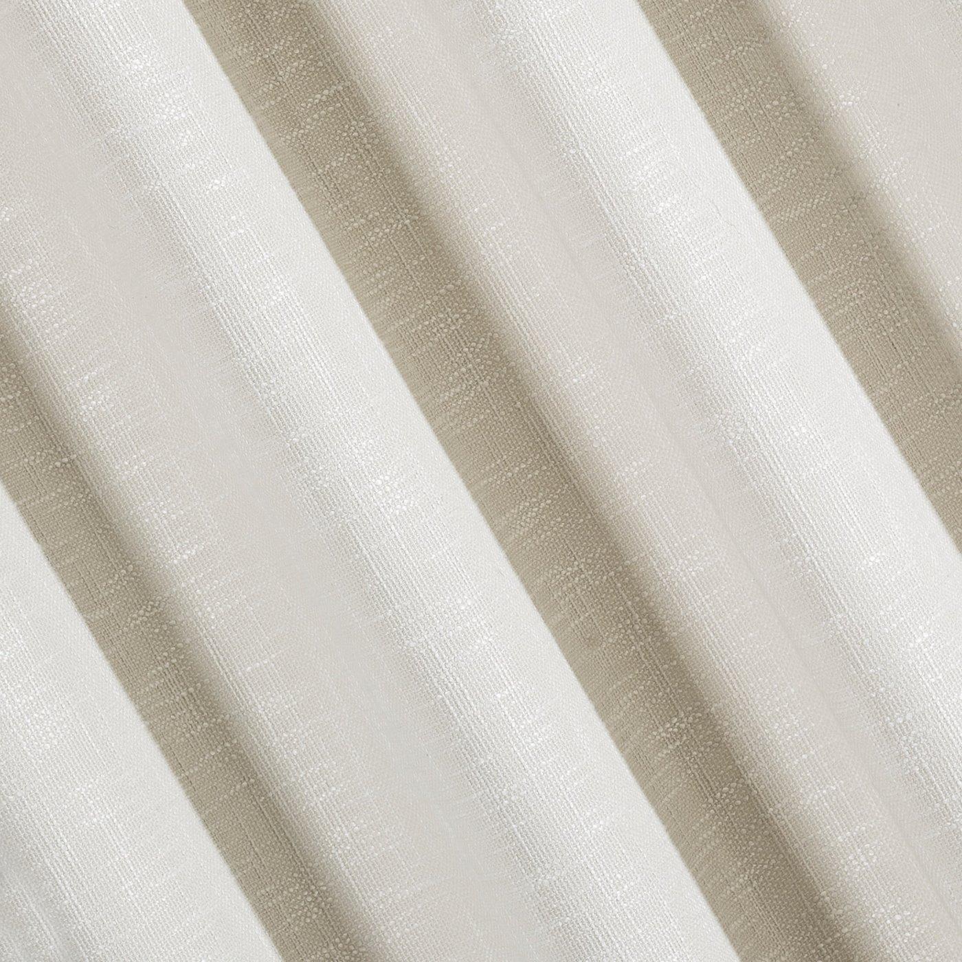 Klasyczna zasłona z melanżu na przelotkach 140x250 cm kremowa