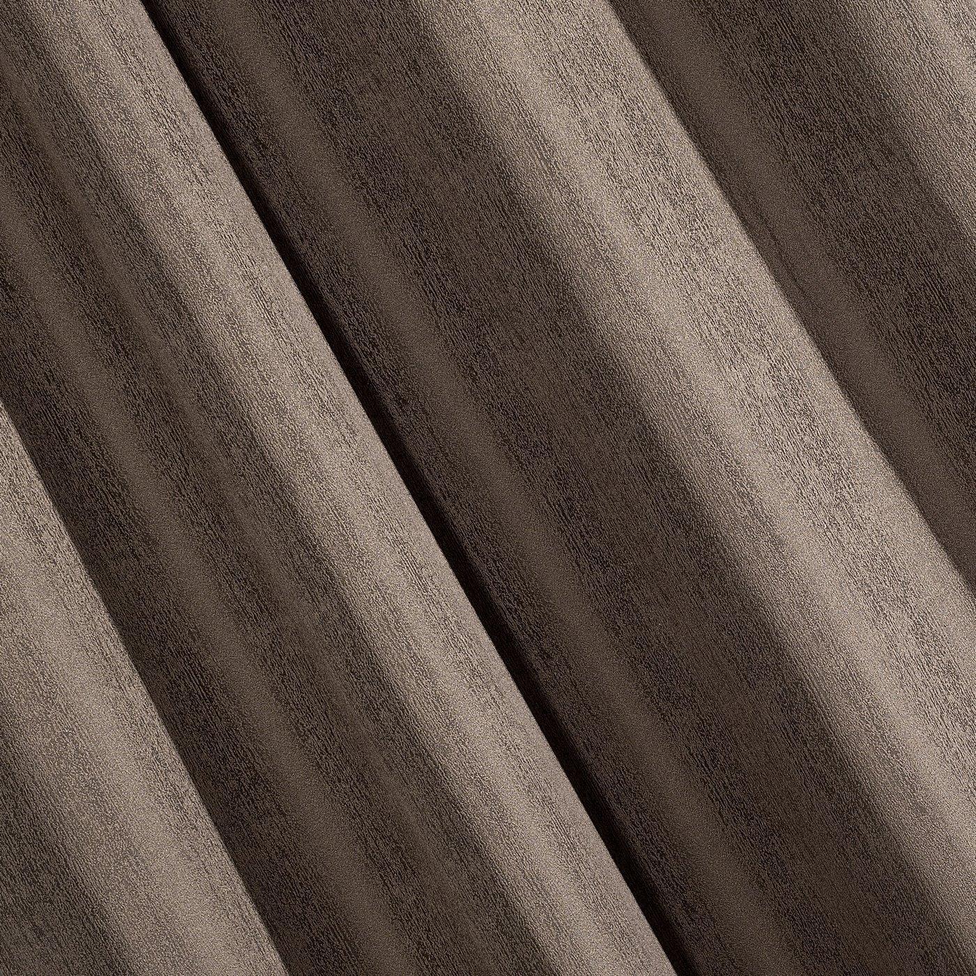 Zasłona subtelny marmurkowy wzór brązowa 140x250cm