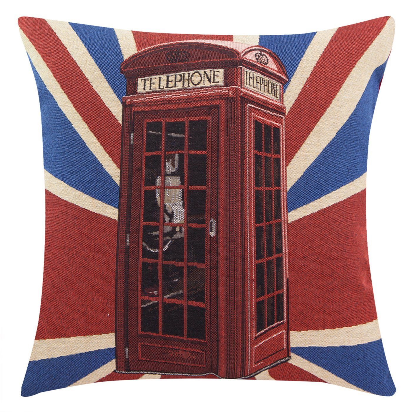 Poszewka motyw Londyn czerwononiebieski 45 X 45 cm