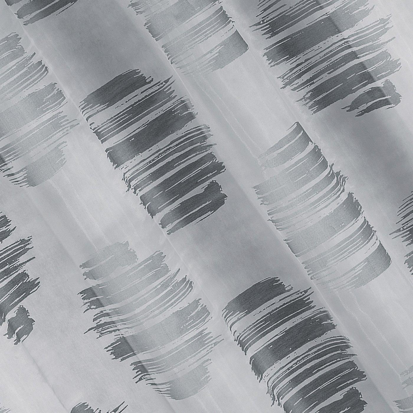 Zasłona cieniowane koła odcienie szrości przelotki 140x250cm