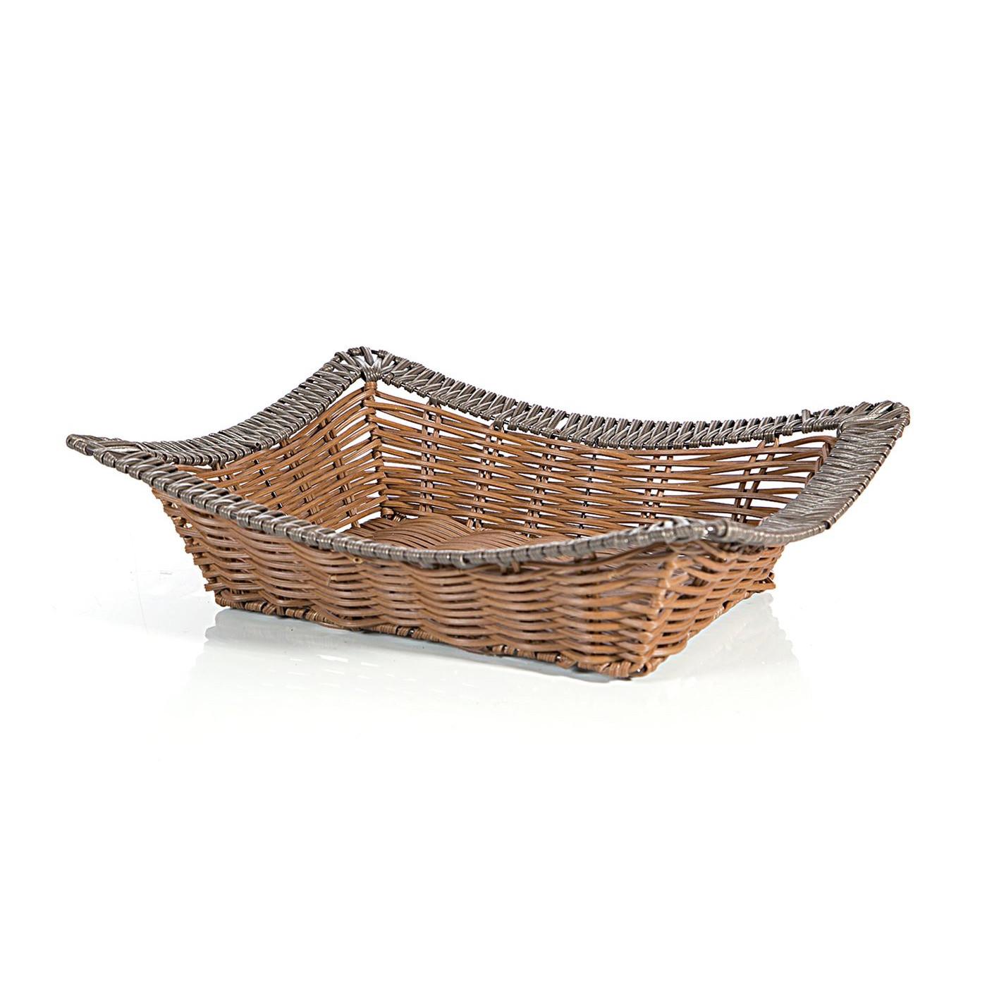 Koszyk dekoracyjny 37 x 31 x 7 cm brązowy