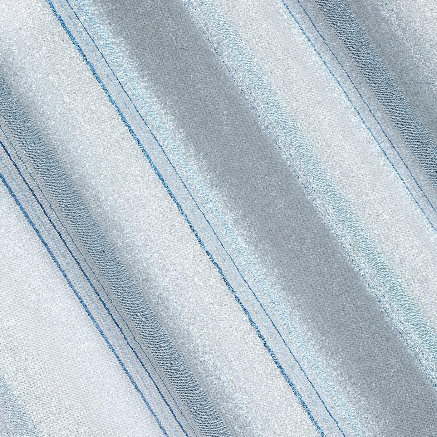 Jasna niebieska zasłona do salonu na przelotkach 140x250 cm