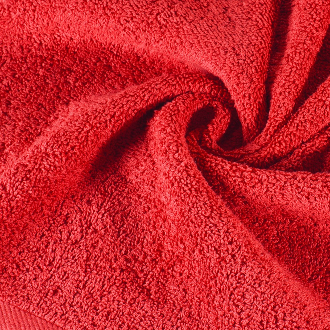 Gładki ręcznik kąpielowy czerwony 100x150 cm