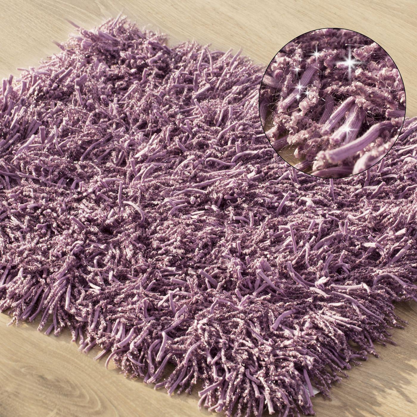 Dywanik z sznurkowym włosiem miękki fioletowy 50x70cm