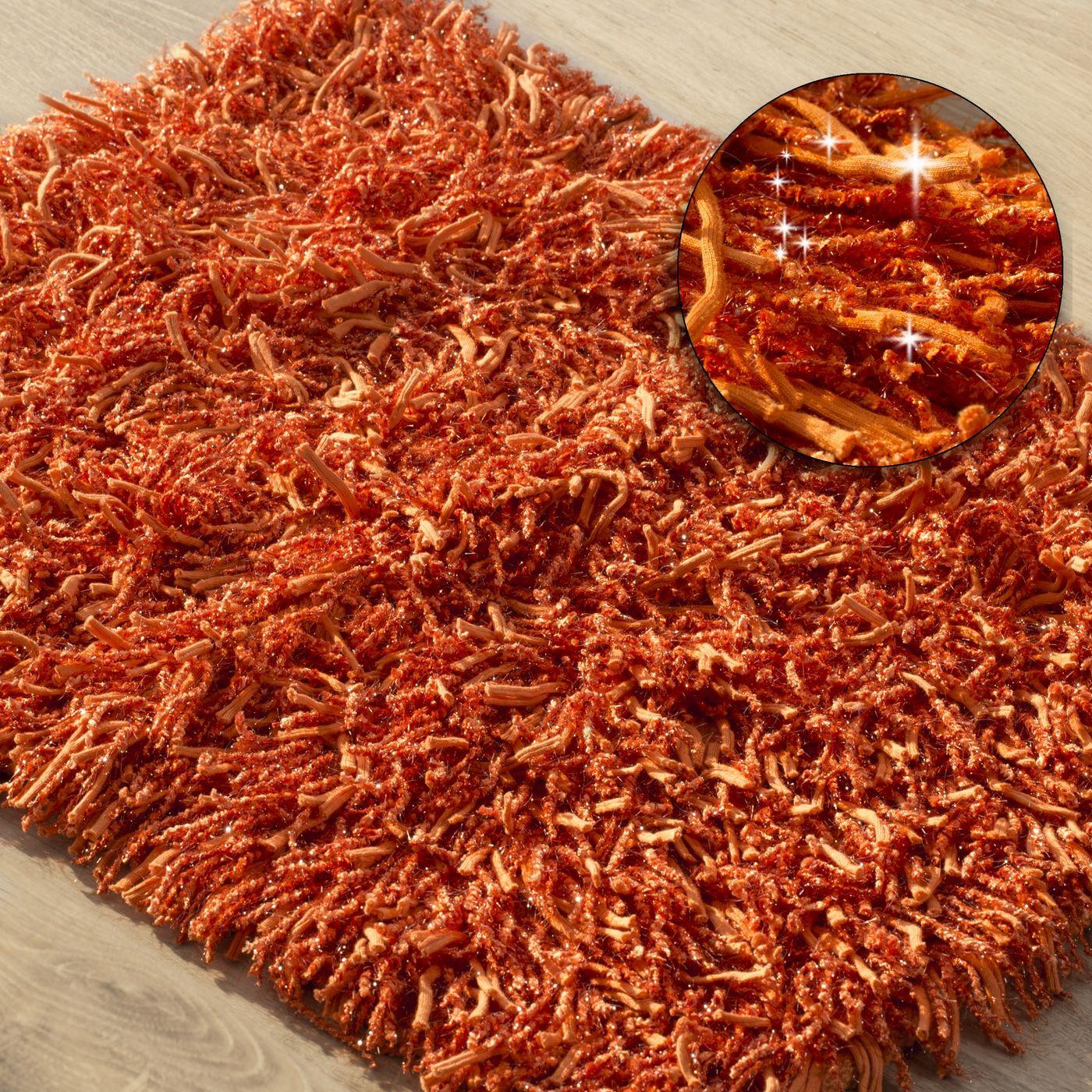 Dywanik z sznurkowym włosiem miękki pomarańczowy 50x70cm