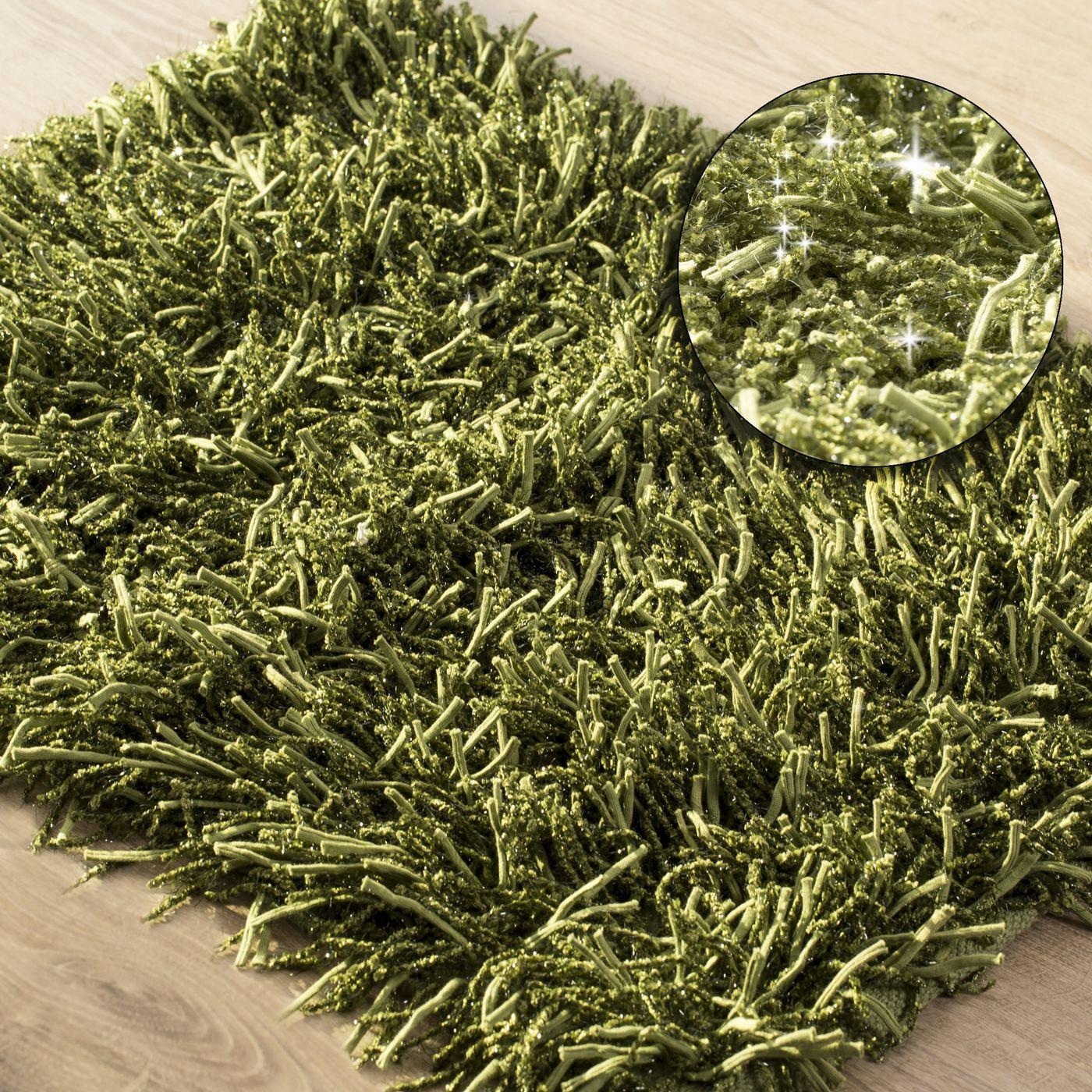Dywanik z sznurkowym włosiem miękki zielony 50x70cm