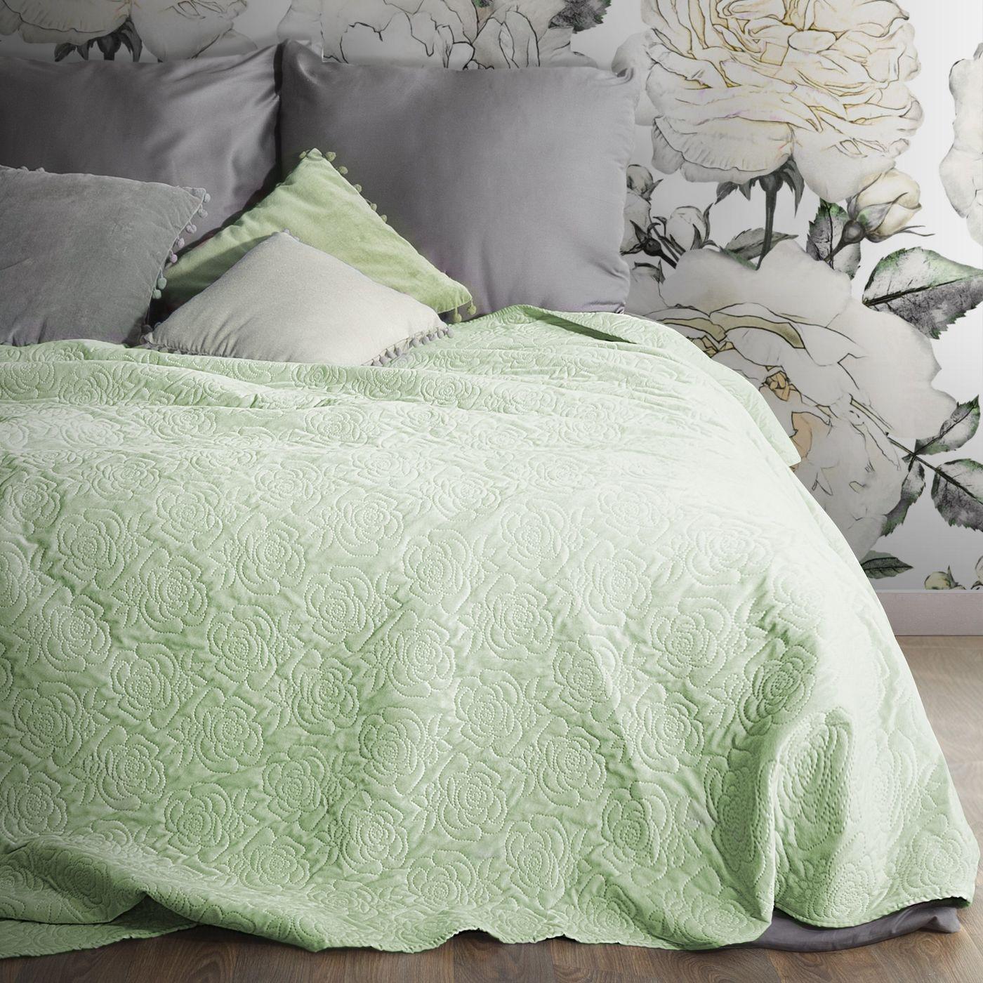 Narzuta melanie zielona pikowana 220x240 cm