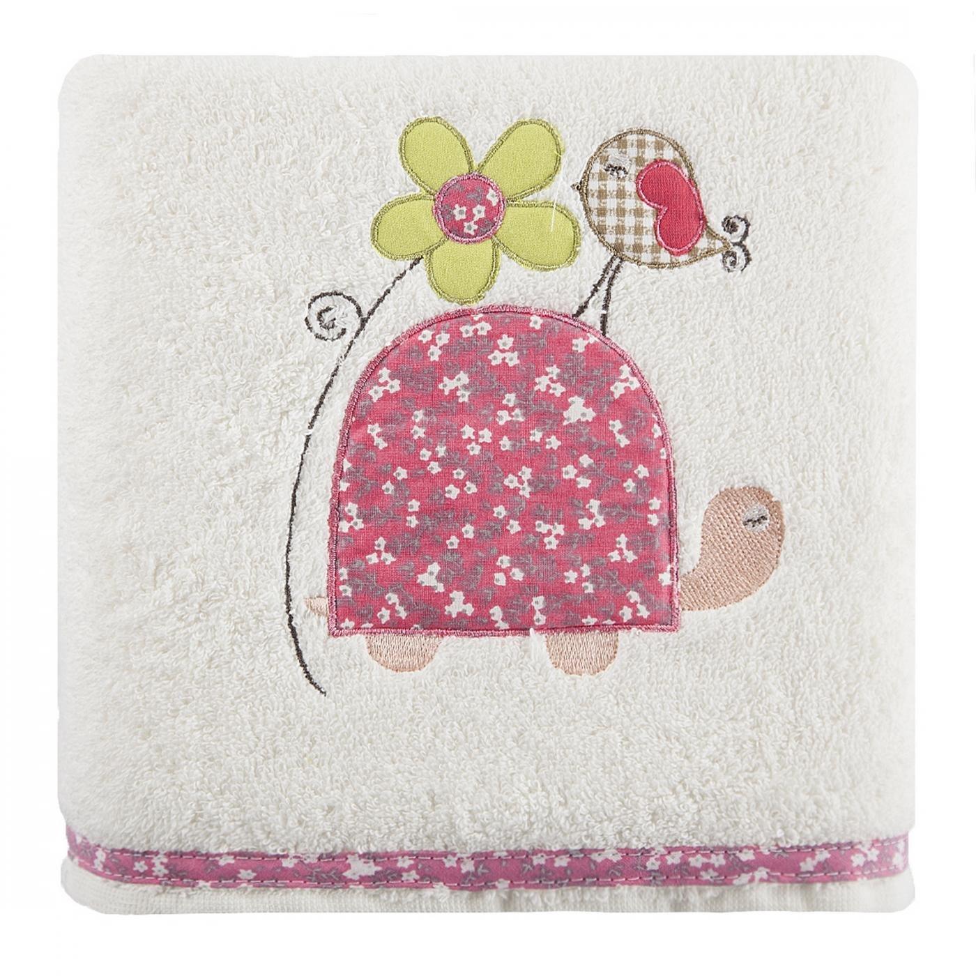 Dziecięcy ręcznik kąpielowy żółwik różowy 50x90 cm