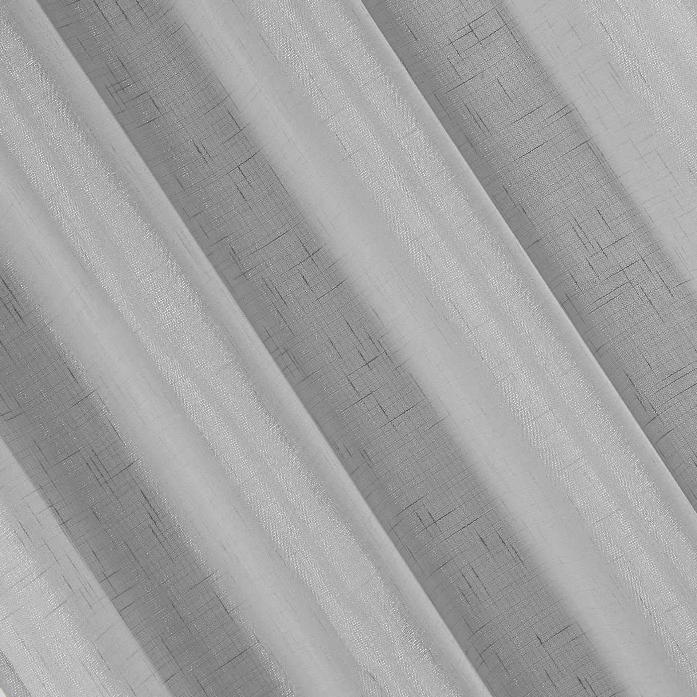 Srebrne GŁADKIE ZASŁONY na przelotkach 140x250cm