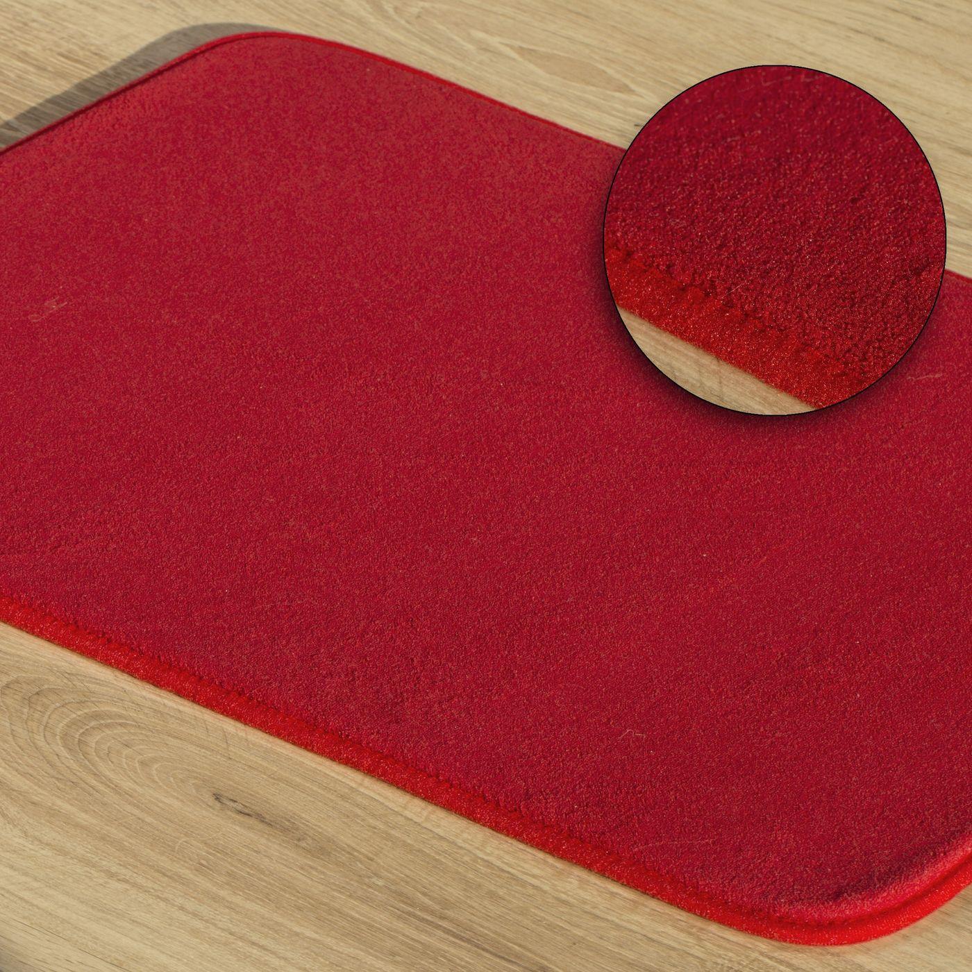 Dywanik gładki łazienkowy czerwony 50x70cm